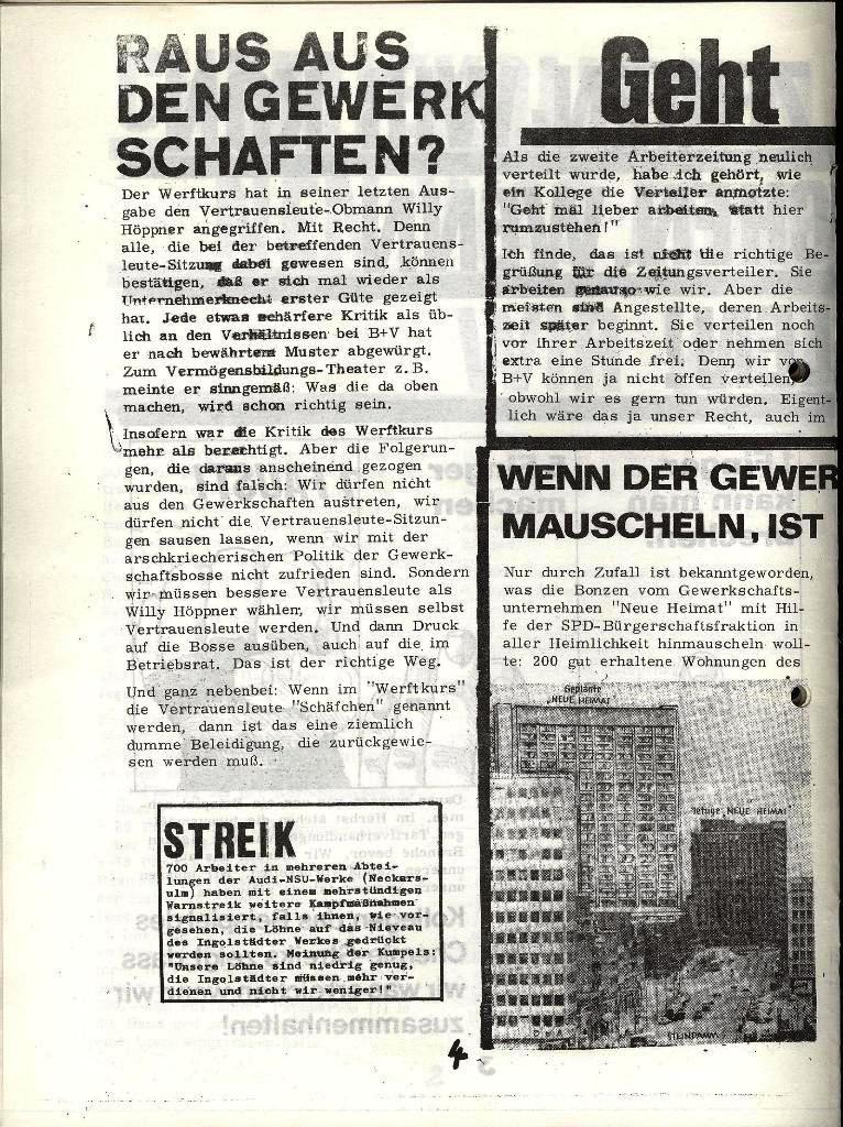 Blohm und Voss Arbeiterzeitung, Nr. 3, Jg. 1, Juli/August 1970, Seite 4