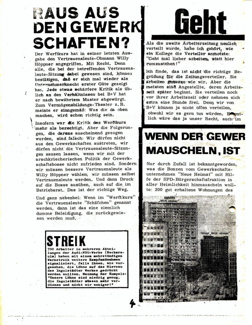 Blohm und Voss Arbeiterzeitung, Nr. 3, Jg. 1, Juli/August 1970, Seite 5