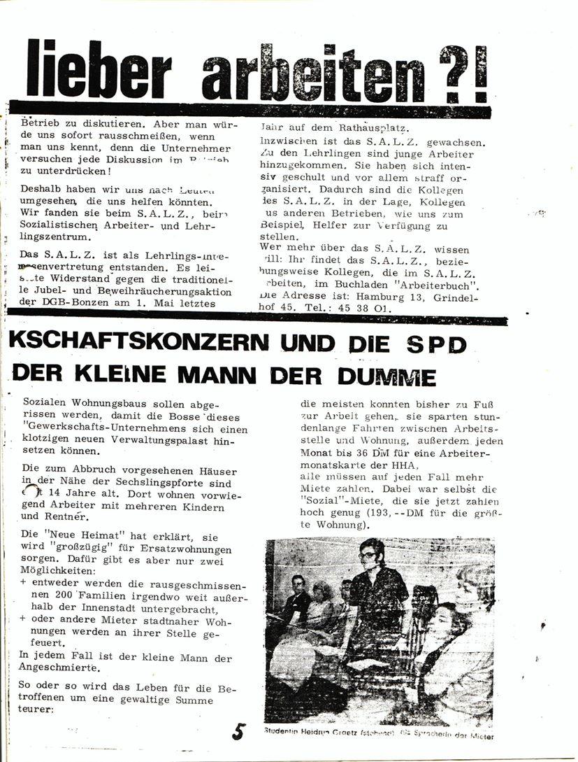 Blohm und Voss Arbeiterzeitung, Nr. 3, Jg. 1, Juli/August 1970, Seite 6