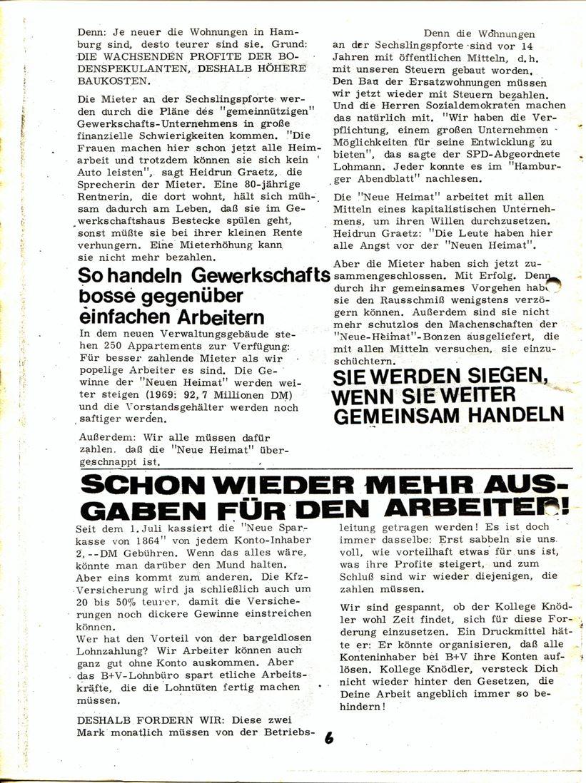 Blohm und Voss Arbeiterzeitung, Nr. 3, Jg. 1, Juli/August 1970, Seite 7