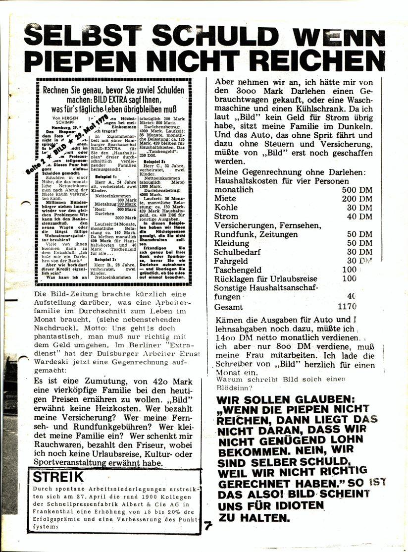Blohm und Voss Arbeiterzeitung, Nr. 3, Jg. 1, Juli/August 1970, Seite 8