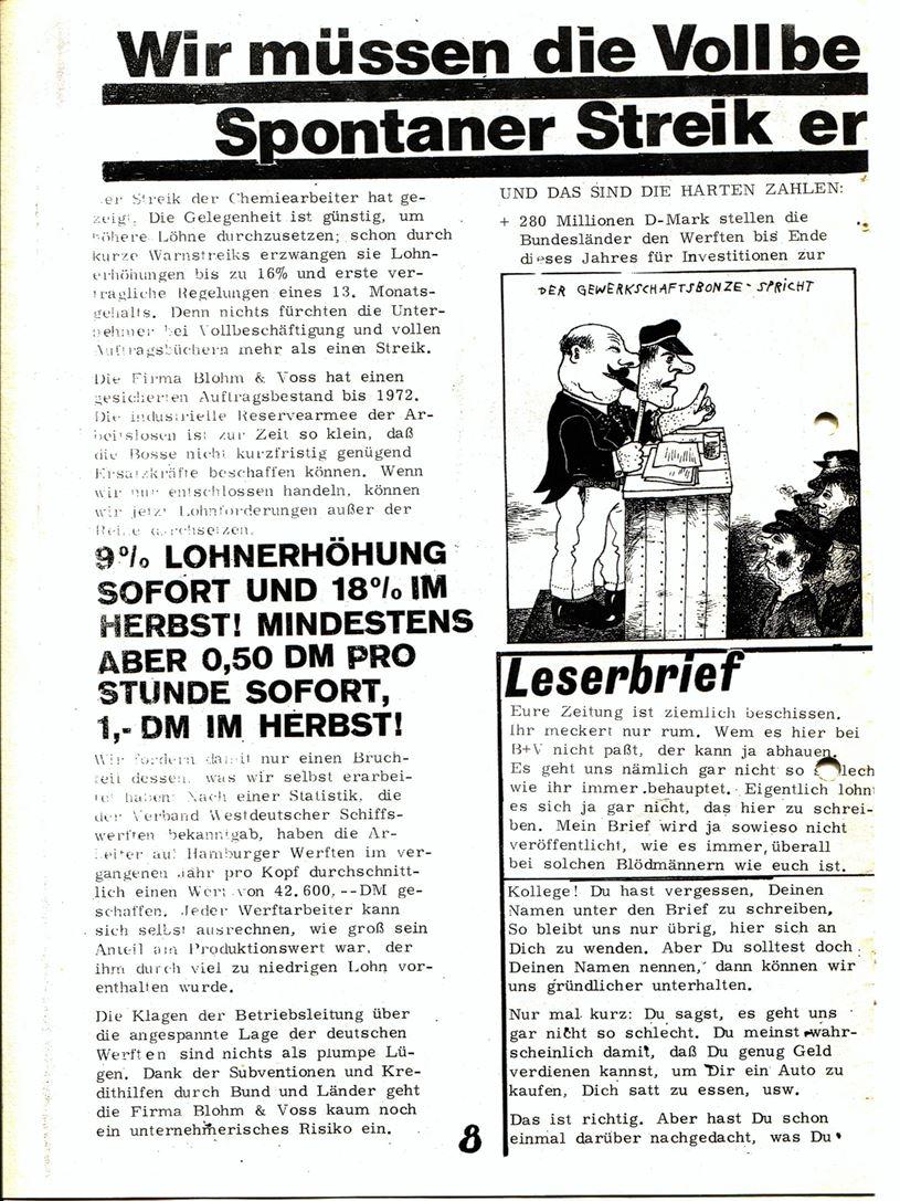 Blohm und Voss Arbeiterzeitung, Nr. 3, Jg. 1, Juli/August 1970, Seite 9