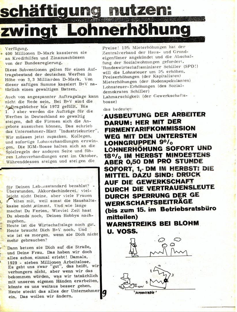 Blohm und Voss Arbeiterzeitung, Nr. 3, Jg. 1, Juli/August 1970, Seite 10