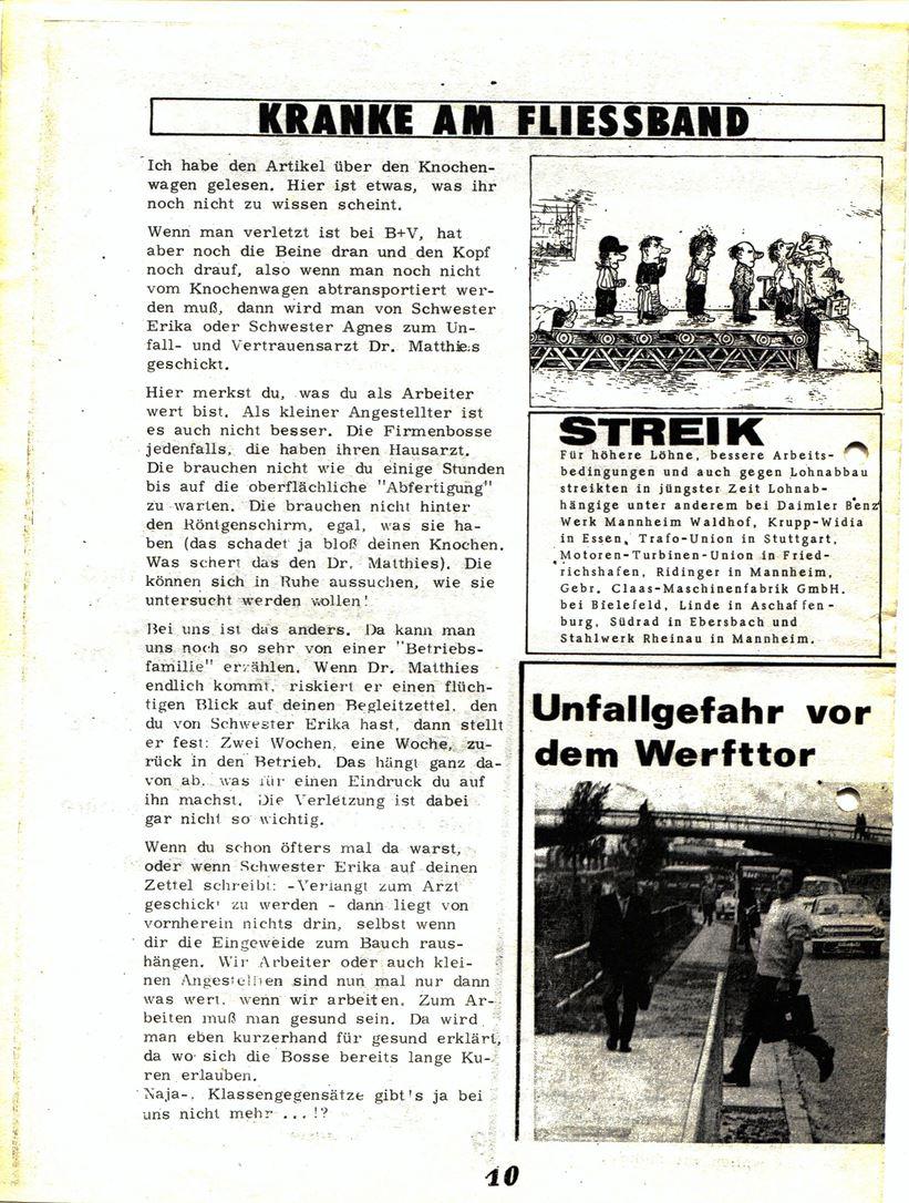 Blohm und Voss Arbeiterzeitung, Nr. 3, Jg. 1, Juli/August 1970, Seite 11