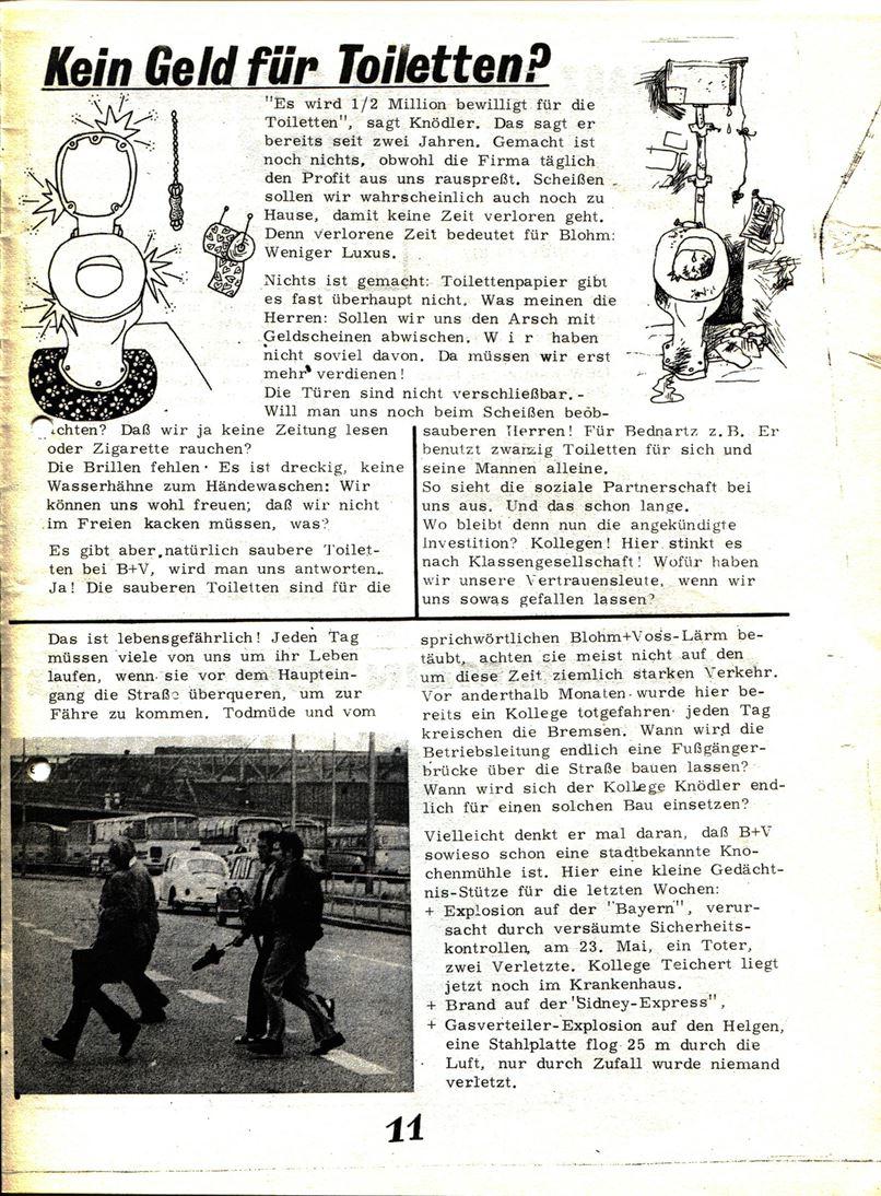 Blohm und Voss Arbeiterzeitung, Nr. 3, Jg. 1, Juli/August 1970, Seite 12