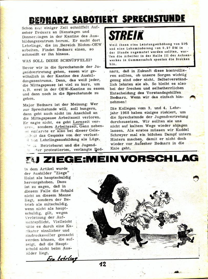 Blohm und Voss Arbeiterzeitung, Nr. 3, Jg. 1, Juli/August 1970, Seite 13