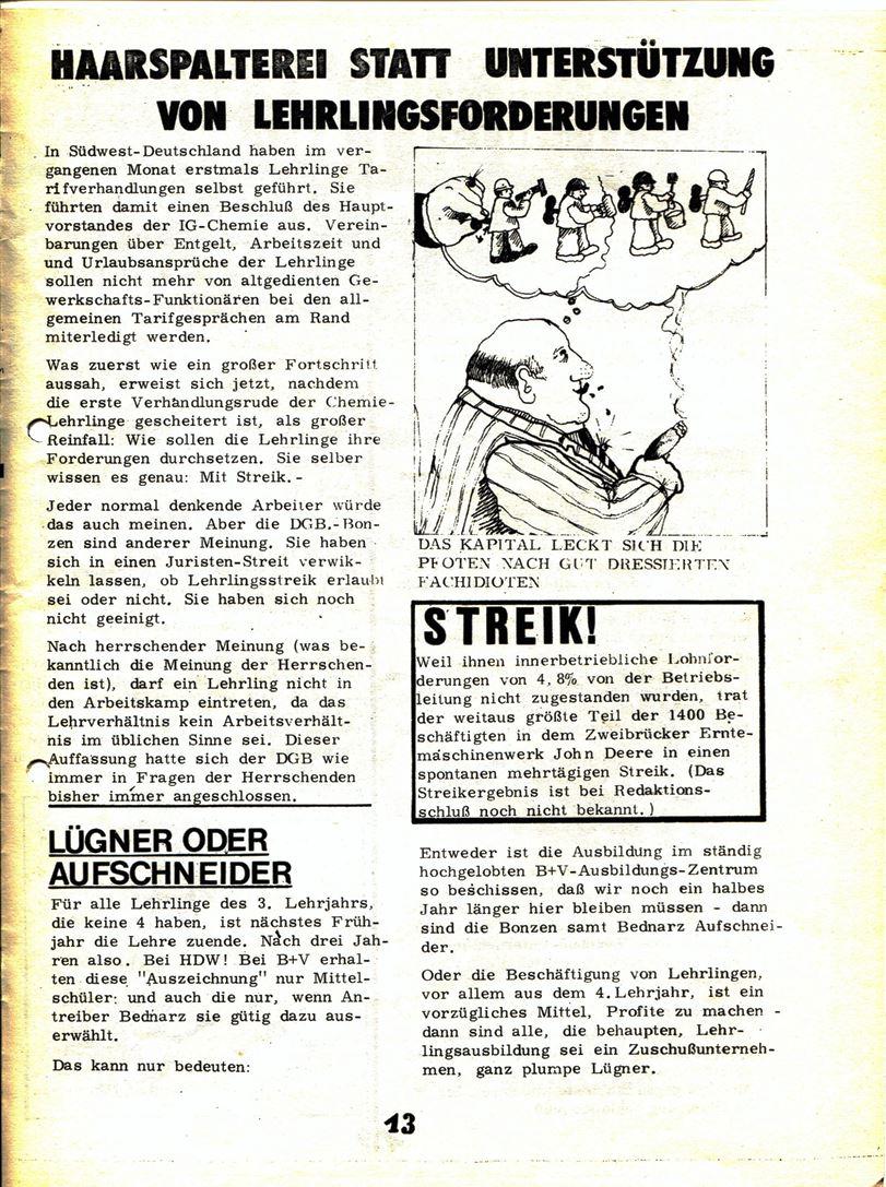 Blohm und Voss Arbeiterzeitung, Nr. 3, Jg. 1, Juli/August 1970, Seite 14