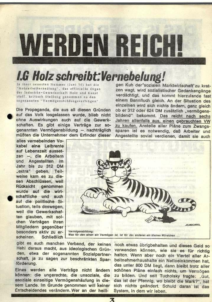 Blohm und Voss Arbeiterzeitung, Nr. 2, Jg. 1, Juni/Juli 1970, Seite 3