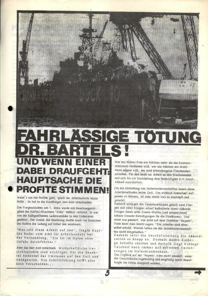 Blohm und Voss Arbeiterzeitung, Nr. 2, Jg. 1, Juni/Juli 1970, Seite 5