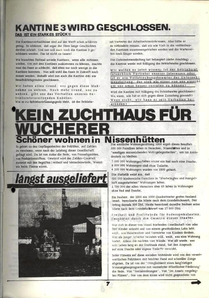Blohm und Voss Arbeiterzeitung, Nr. 2, Jg. 1, Juni/Juli 1970, Seite 7