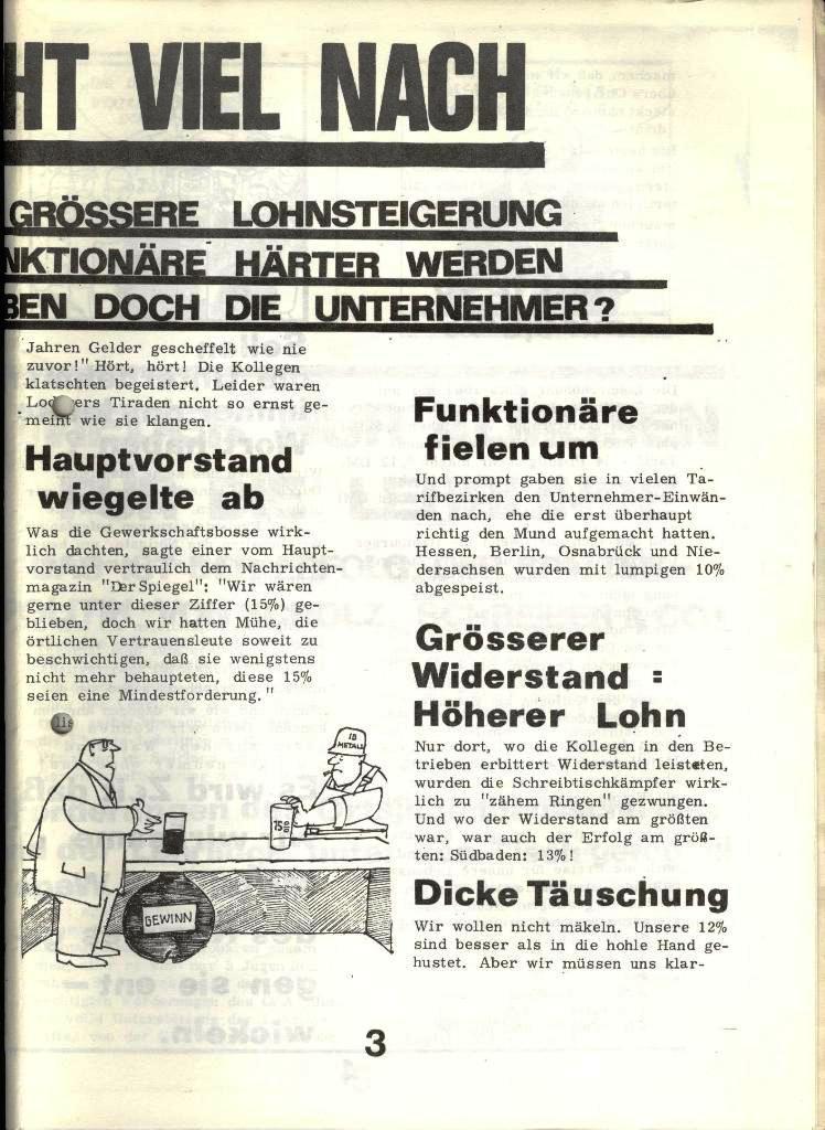 Blohm und Voss Arbeiterzeitung, Nr. 4, Jg. 1, Nov./Dez. 1970, Seite 3