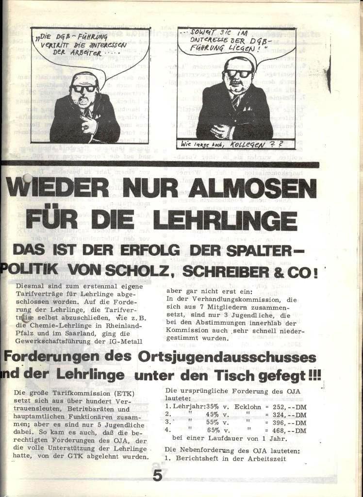 Blohm und Voss Arbeiterzeitung, Nr. 4, Jg. 1, Nov./Dez. 1970, Seite 5