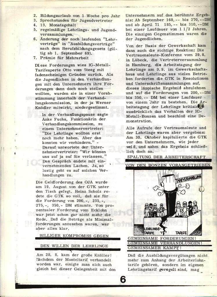 Blohm und Voss Arbeiterzeitung, Nr. 4, Jg. 1, Nov./Dez. 1970, Seite 6