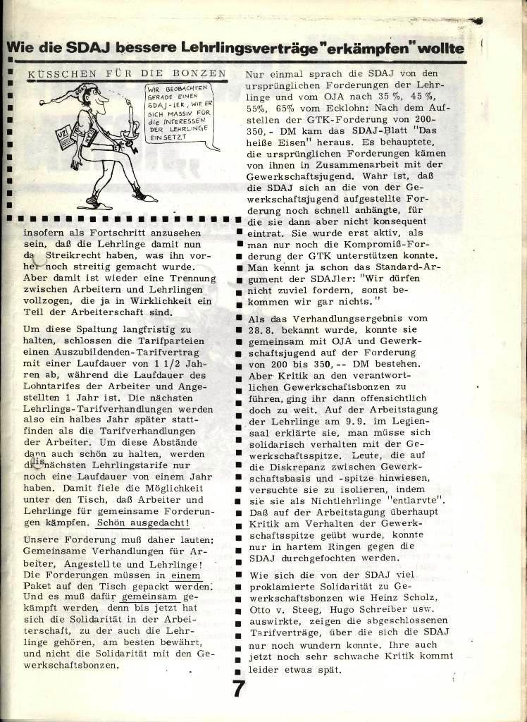 Blohm und Voss Arbeiterzeitung, Nr. 4, Jg. 1, Nov./Dez. 1970, Seite 7