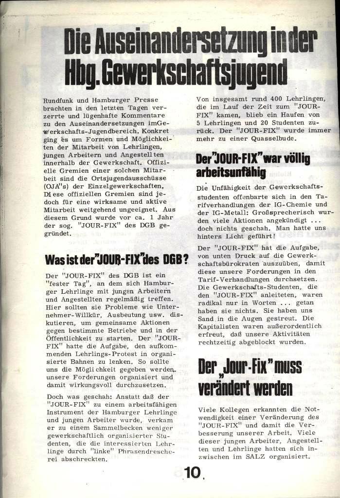 Blohm und Voss Arbeiterzeitung, Nr. 4, Jg. 1, Nov./Dez. 1970, Seite 10
