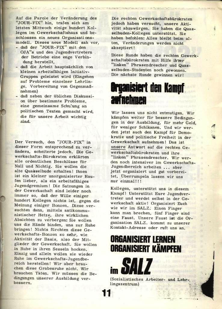 Blohm und Voss Arbeiterzeitung, Nr. 4, Jg. 1, Nov./Dez. 1970, Seite 11