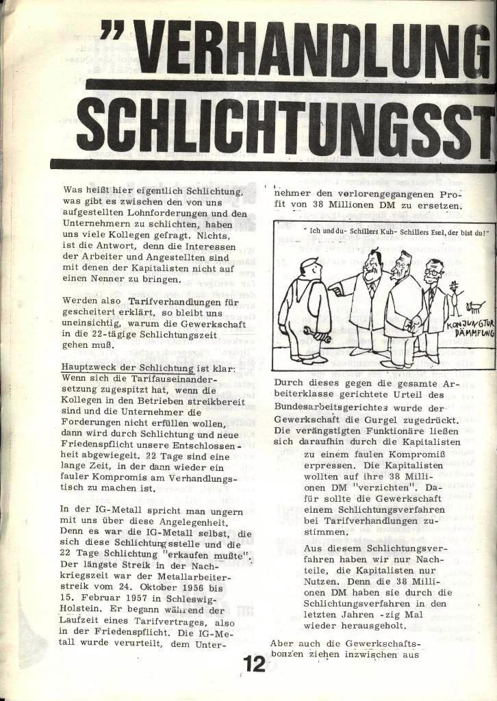 Blohm und Voss Arbeiterzeitung, Nr. 4, Jg. 1, Nov./Dez. 1970, Seite 12