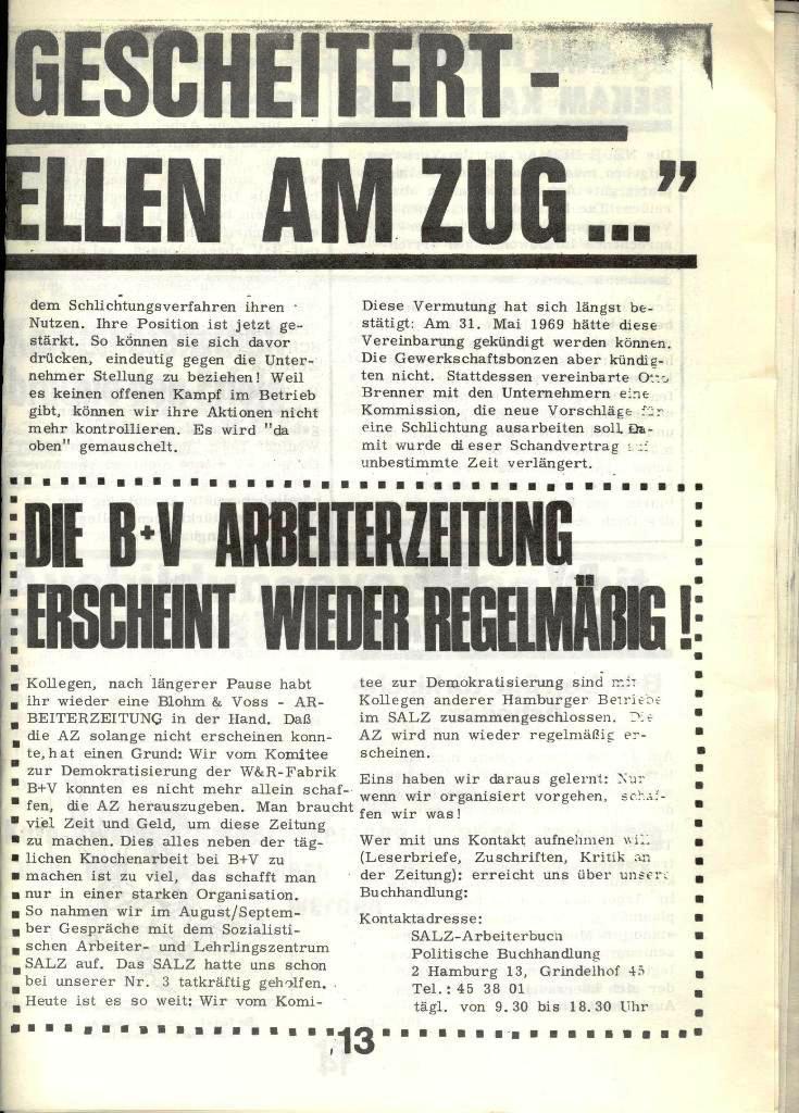 Blohm und Voss Arbeiterzeitung, Nr. 4, Jg. 1, Nov./Dez. 1970, Seite 13