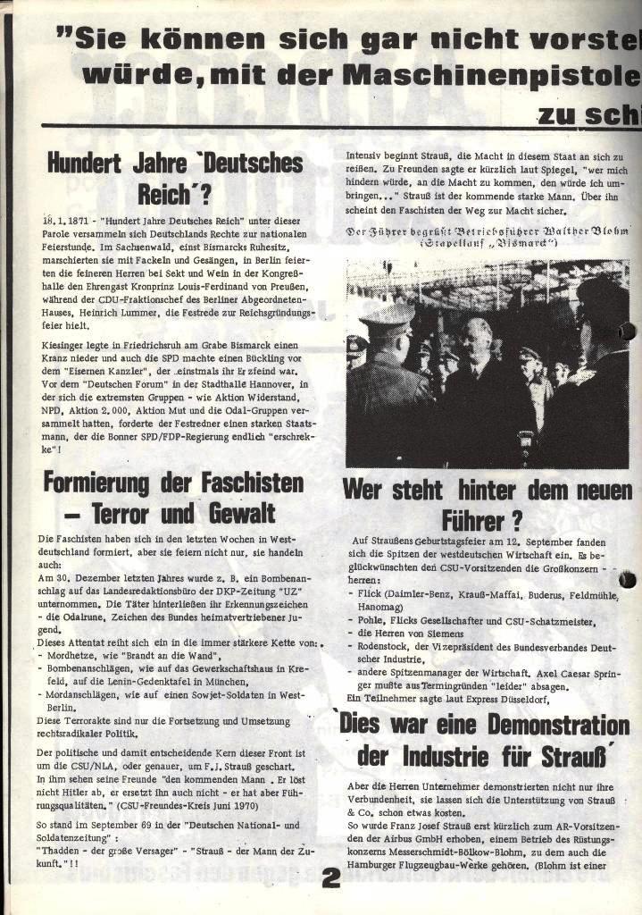 Blohm und Voss Arbeiterzeitung, Nr. 1, Jg. 2, Jan./Feb. 1971, Seite 2