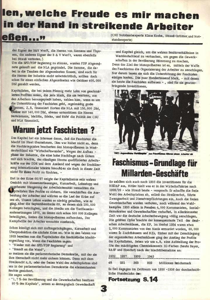 Blohm und Voss Arbeiterzeitung, Nr. 1, Jg. 2, Jan./Feb. 1971, Seite 3