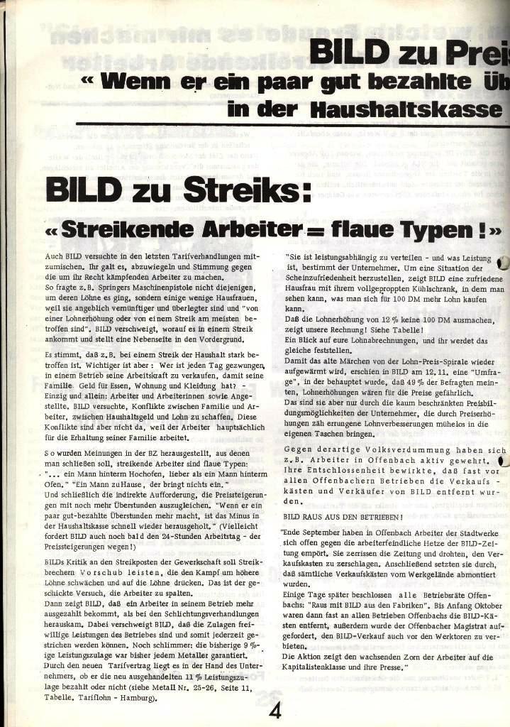 Blohm und Voss Arbeiterzeitung, Nr. 1, Jg. 2, Jan./Feb. 1971, Seite 4