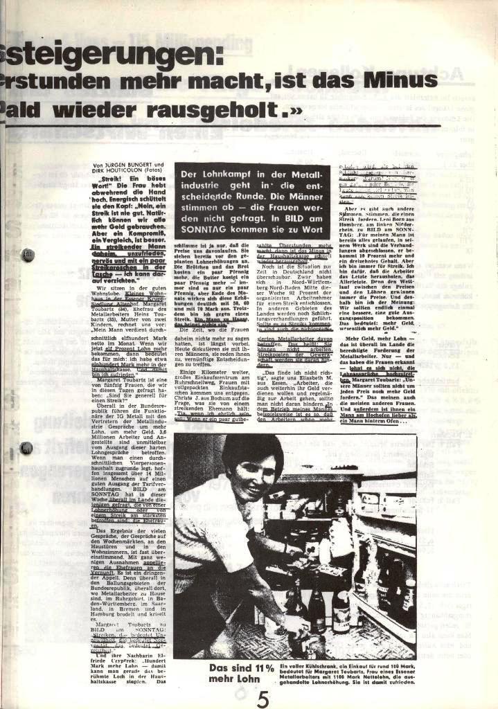 Blohm und Voss Arbeiterzeitung, Nr. 1, Jg. 2, Jan./Feb. 1971, Seite 5