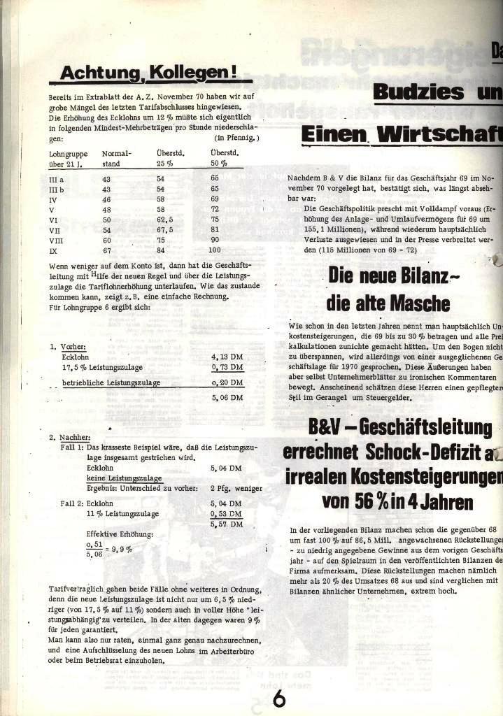 Blohm und Voss Arbeiterzeitung, Nr. 1, Jg. 2, Jan./Feb. 1971, Seite 6