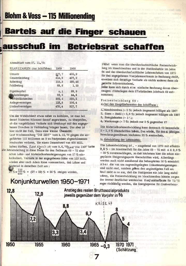 Blohm und Voss Arbeiterzeitung, Nr. 1, Jg. 2, Jan./Feb. 1971, Seite 7