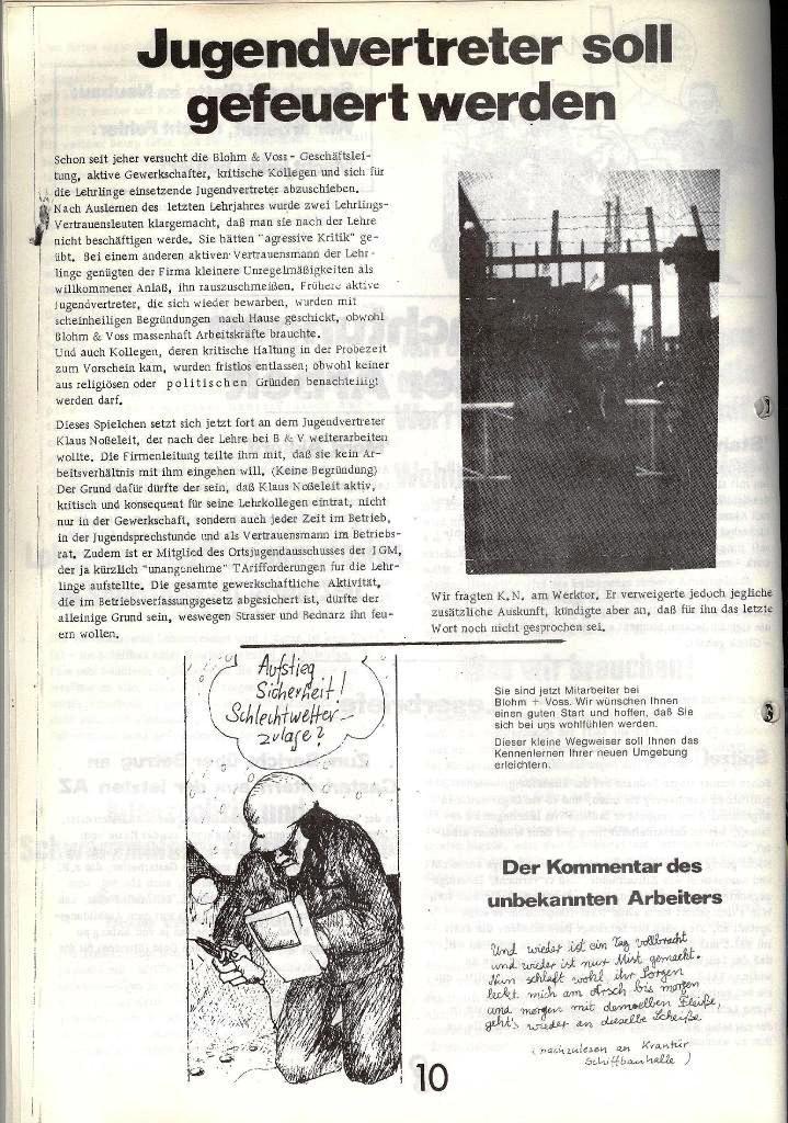 Blohm und Voss Arbeiterzeitung, Nr. 1, Jg. 2, Jan./Feb. 1971, Seite 10