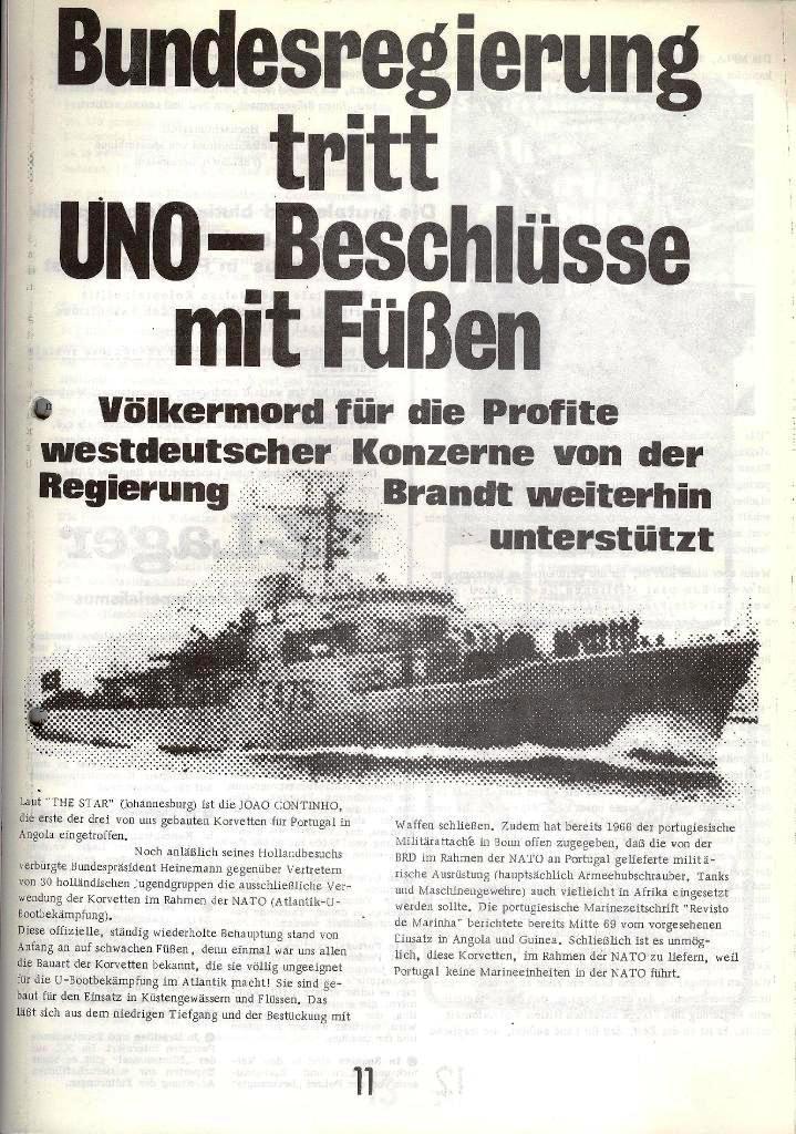 Blohm und Voss Arbeiterzeitung, Nr. 1, Jg. 2, Jan./Feb. 1971, Seite 11