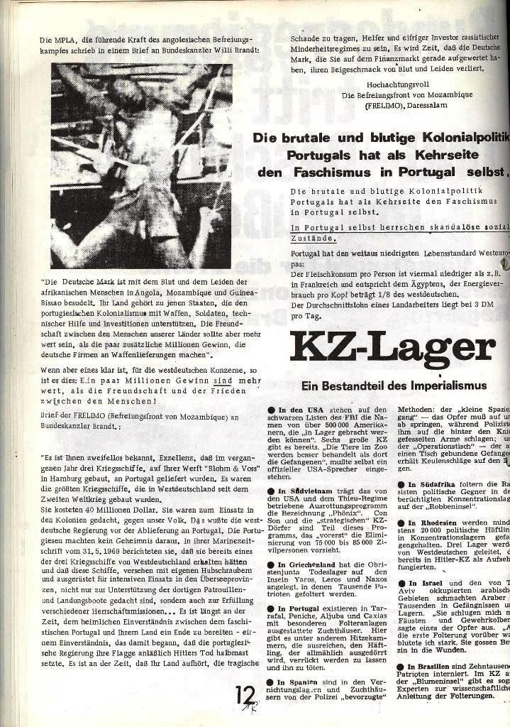 Blohm und Voss Arbeiterzeitung, Nr. 1, Jg. 2, Jan./Feb. 1971, Seite 12