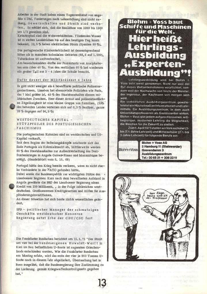 Blohm und Voss Arbeiterzeitung, Nr. 1, Jg. 2, Jan./Feb. 1971, Seite 13
