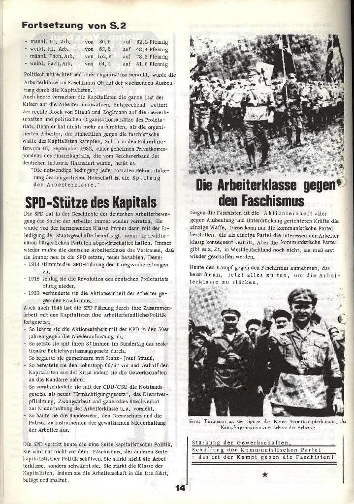 Blohm und Voss Arbeiterzeitung, Nr. 1, Jg. 2, Jan./Feb. 1971, Seite 14