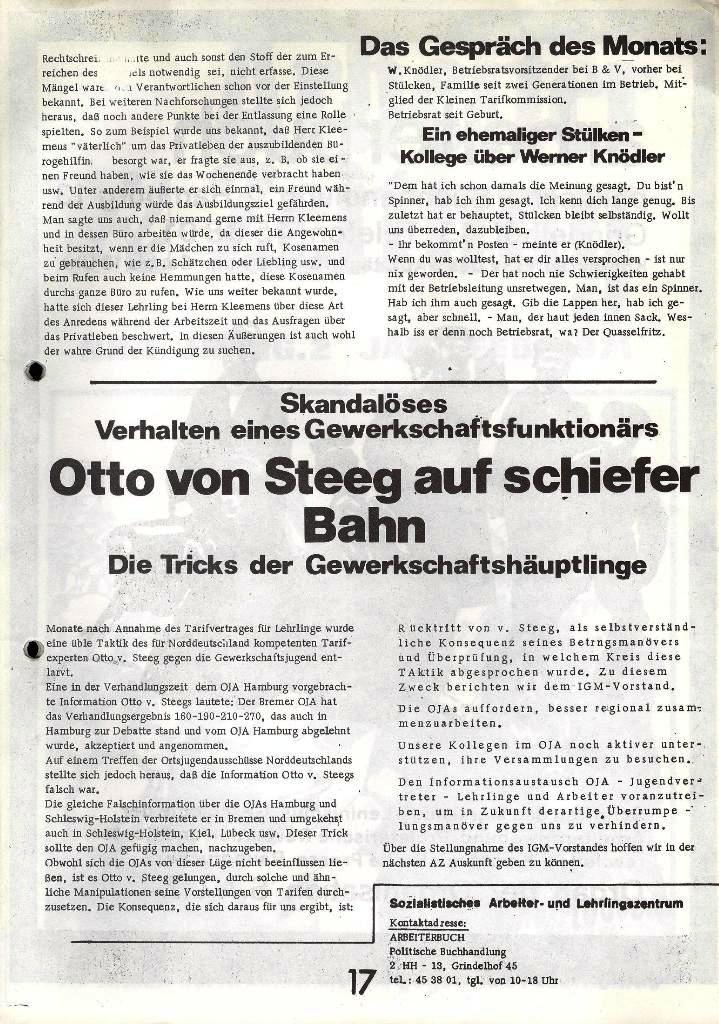 Blohm und Voss Arbeiterzeitung, Nr. 1, Jg. 2, Jan./Feb. 1971, Seite 17