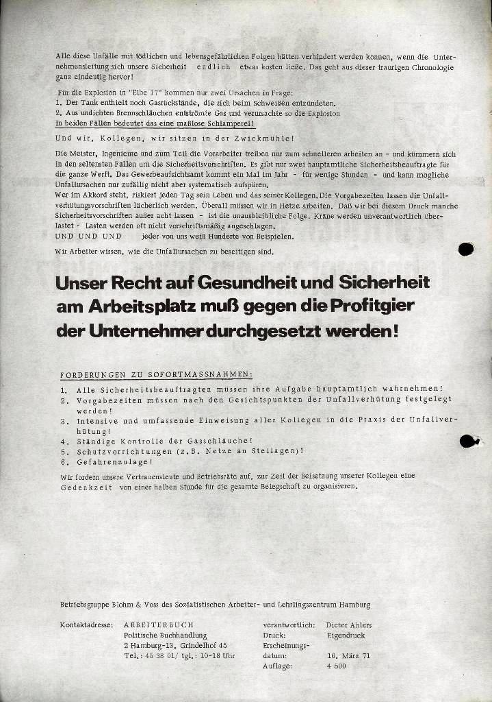 Blohm und Voss Arbeiterzeitung, Extrablatt, 16. März 1971, Seite 2