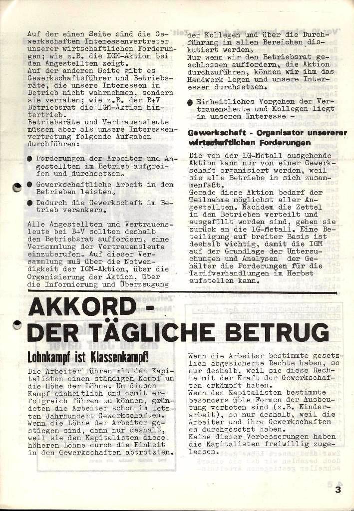 Blohm und Voss Arbeiterzeitung, Nr. 3, Jg. 2, Juni 1971, Seite 3