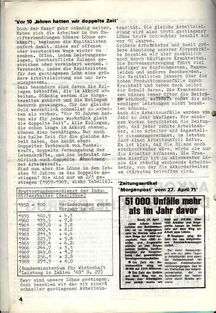 Blohm und Voss Arbeiterzeitung, Nr. 3, Jg. 2, Juni 1971, Seite 4