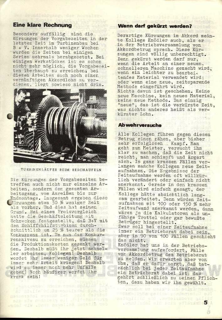 Blohm und Voss Arbeiterzeitung, Nr. 3, Jg. 2, Juni 1971, Seite 5