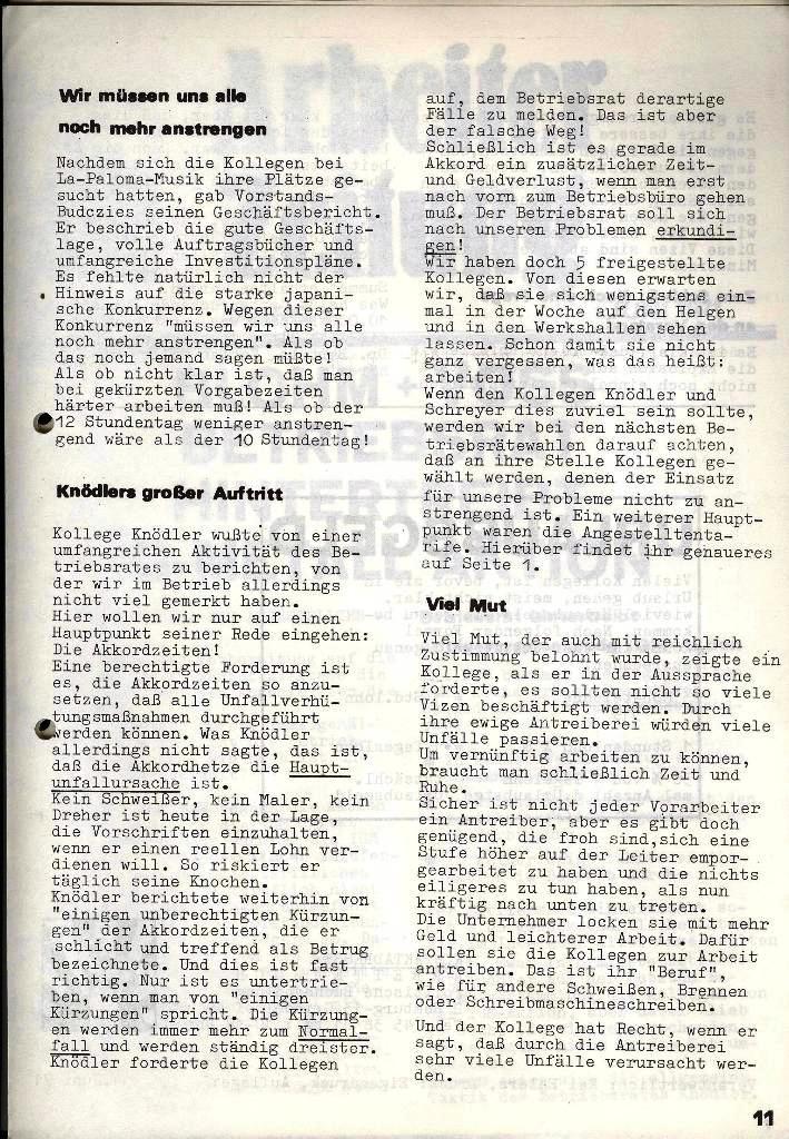 Blohm und Voss Arbeiterzeitung, Nr. 3, Jg. 2, Juni 1971, Seite 11