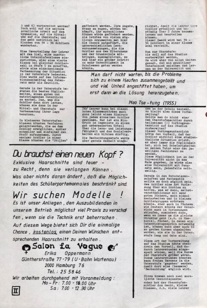 Dialog _ Zeitung für das Gymnasium Rahlstedt, Nr. 2/1977, Seite 2