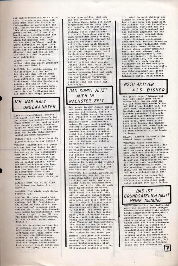 Dialog _ Zeitung für das Gymnasium Rahlstedt, Nr. 2/1977, Seite 5