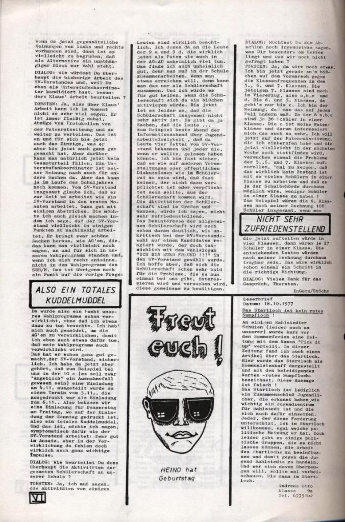 Dialog _ Zeitung für das Gymnasium Rahlstedt, Nr. 2/1977, Seite 6