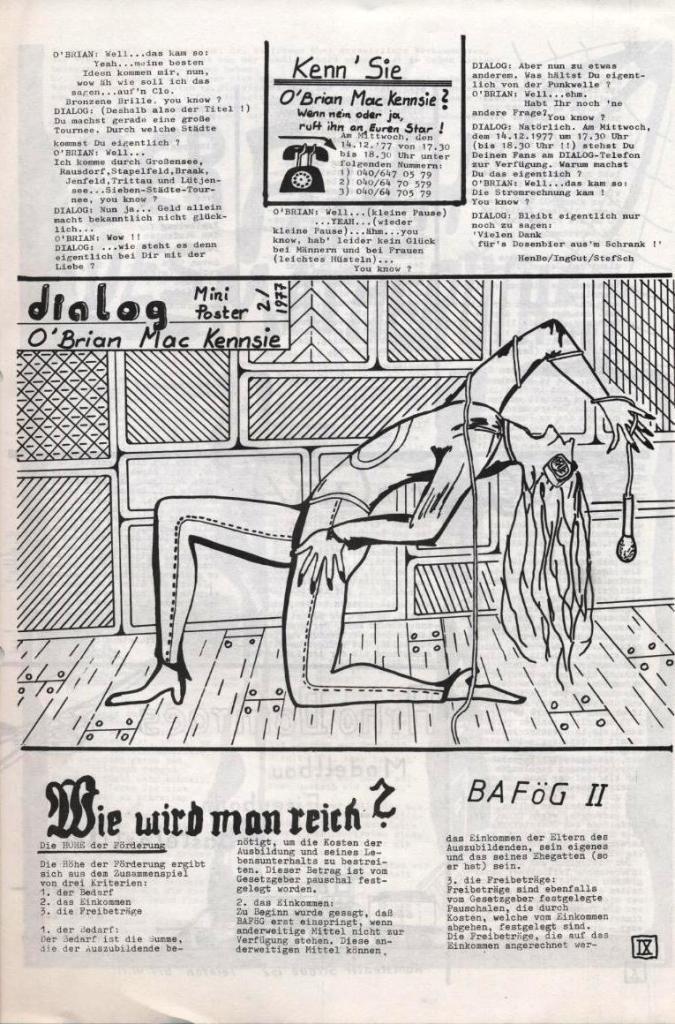 Dialog _ Zeitung für das Gymnasium Rahlstedt, Nr. 2/1977, Seite 9