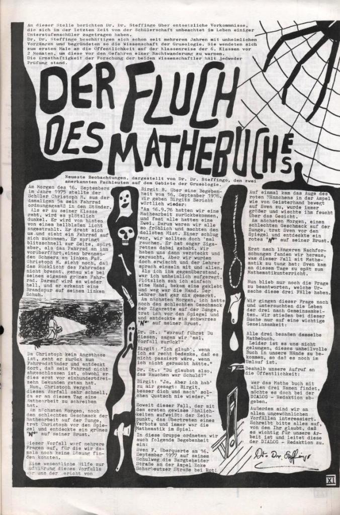 Dialog _ Zeitung für das Gymnasium Rahlstedt, Nr. 2/1977, Seite 11