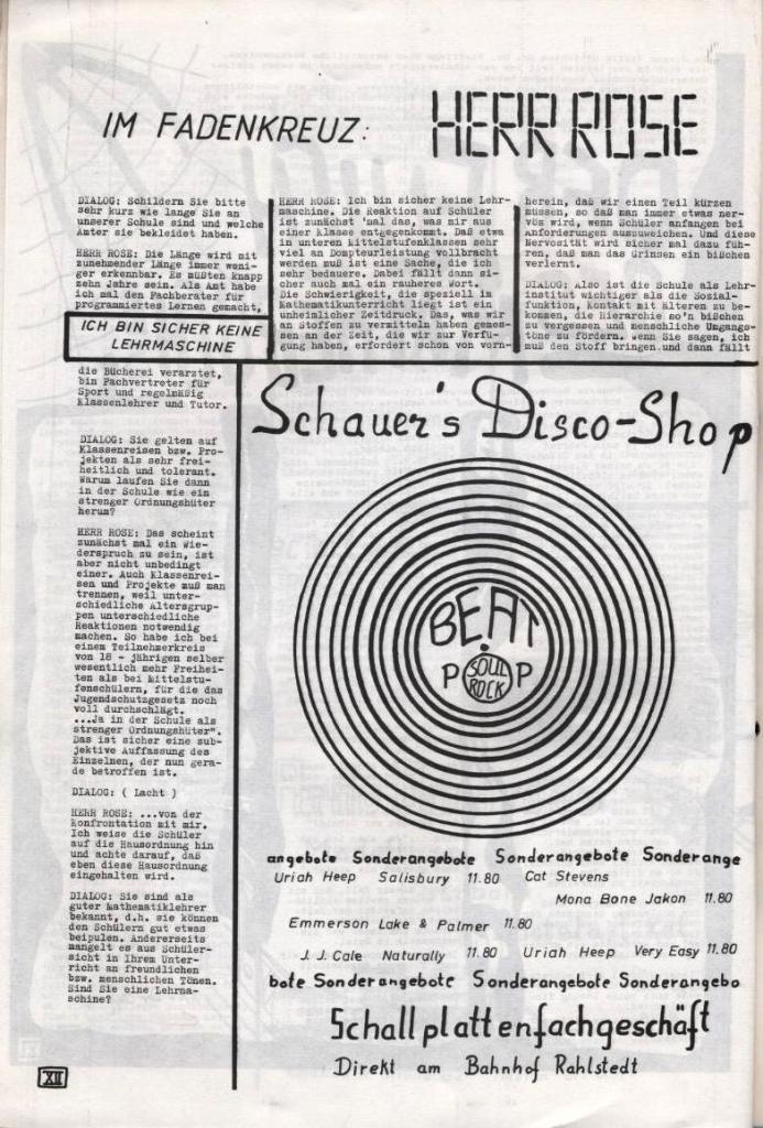 Dialog _ Zeitung für das Gymnasium Rahlstedt, Nr. 2/1977, Seite 12