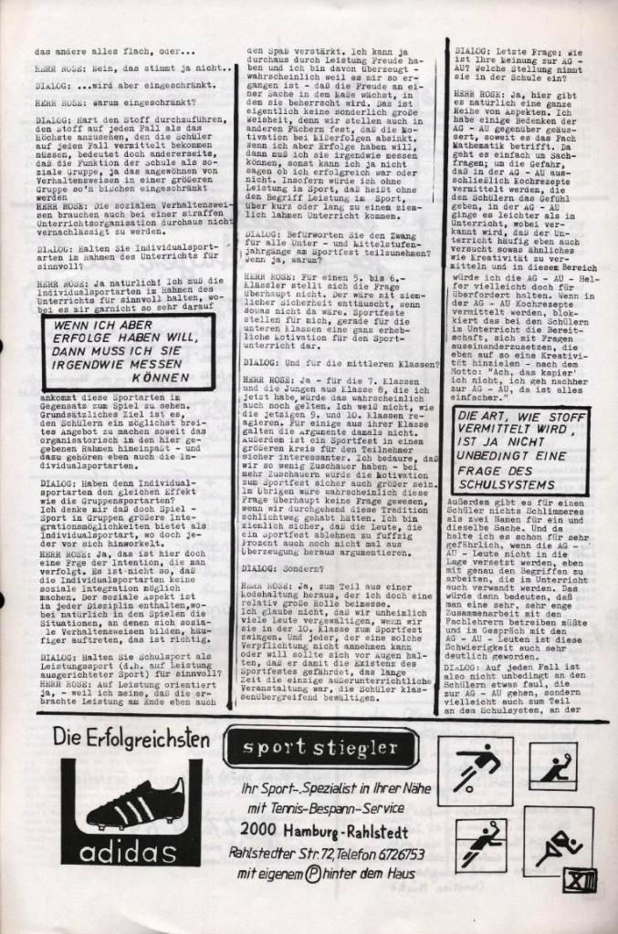 Dialog _ Zeitung für das Gymnasium Rahlstedt, Nr. 2/1977, Seite 13