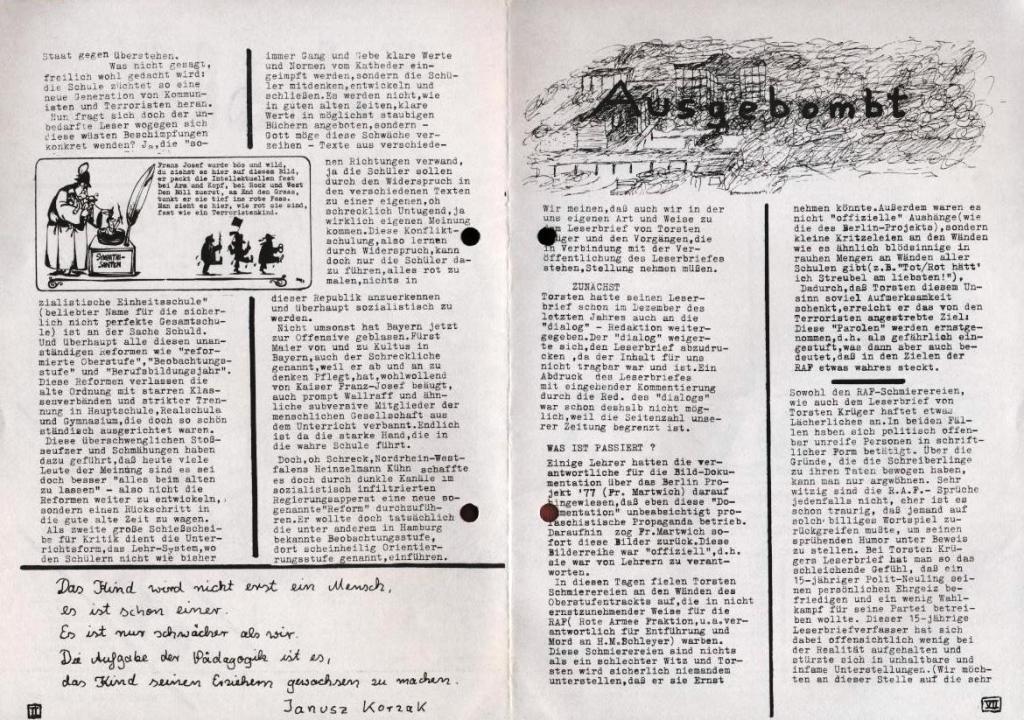 Dialog _ Zeitung für das Gymnasium Rahlstedt, Extra, 21.2.1978, S. 2 und 7