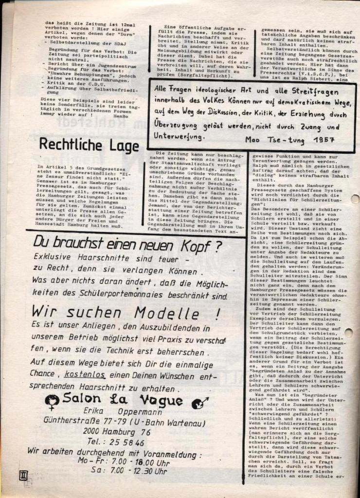 Dialog _ Zeitung für das Gymnasium Rahlstedt, Nr. 1/1978, Seite 2
