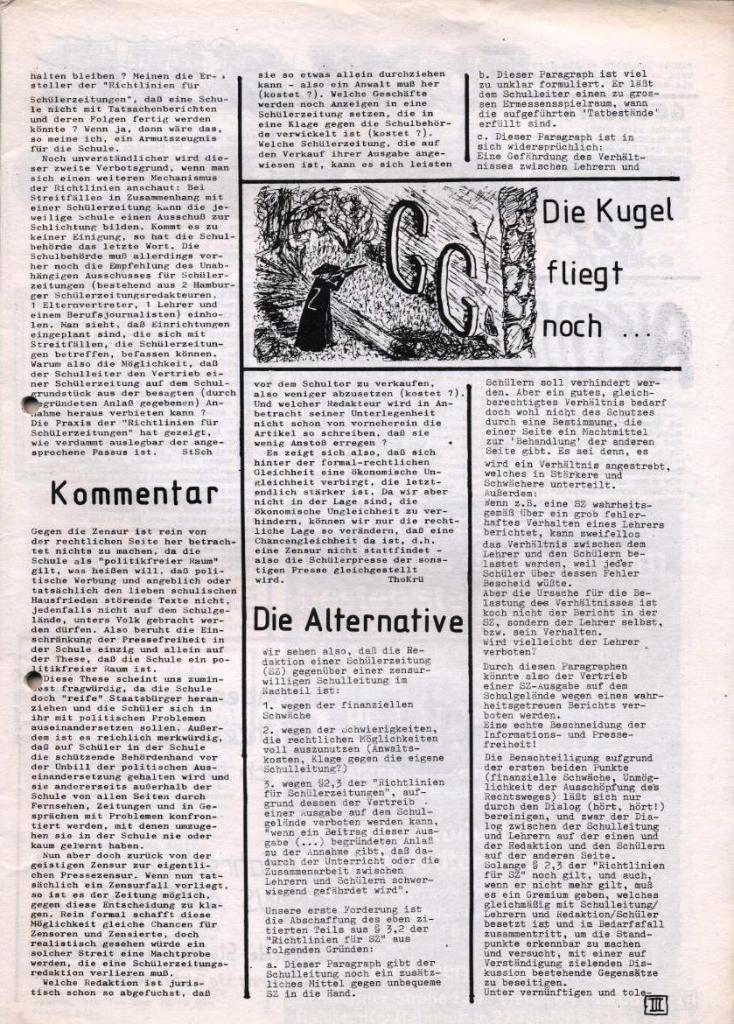 Dialog _ Zeitung für das Gymnasium Rahlstedt, Nr. 1/1978, Seite 3
