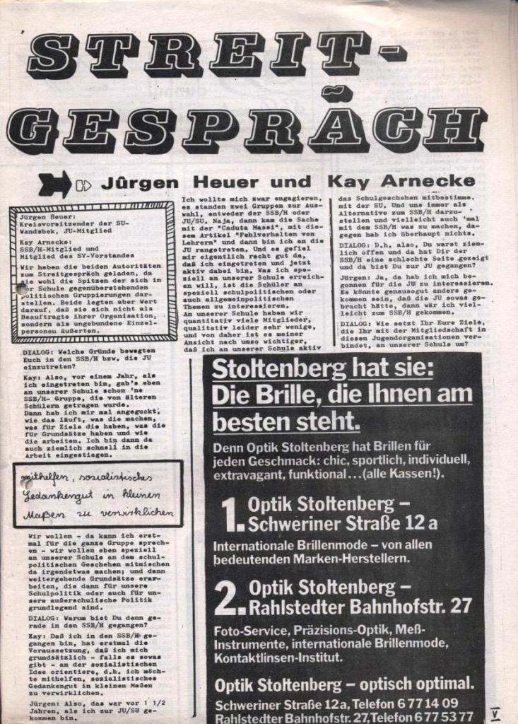 Dialog _ Zeitung für das Gymnasium Rahlstedt, Nr. 1/1978, Seite 5